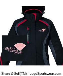 North End Ladies Insulated 3 in 1 Jacket Design Zoom